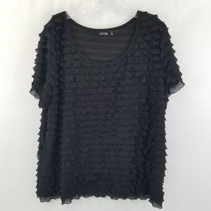 Black dressy short sleeve shirt